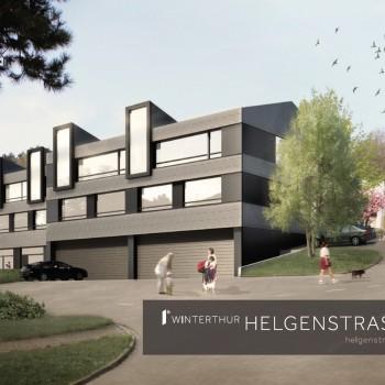 Helgenstrasse Winterthur – Immobilien Flyerdesign Dokumentation