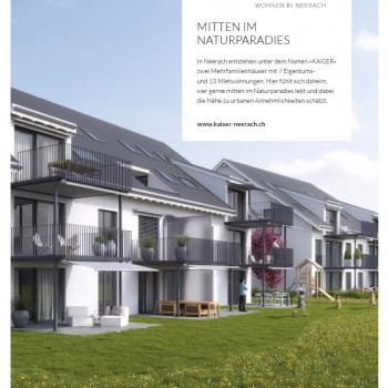 Neerach Kaiser – Immobilien Flyerdesign Dokumentation