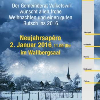 Volketswil Neujahrs Plakatdesign